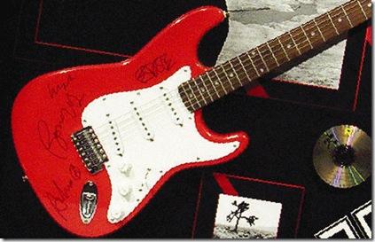 U2 guitar signed