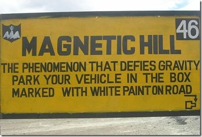 magnetic hill sign