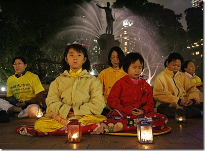 Boosters of China's bid for the 2008 Games hoped that hosting the Olympics would prompt Beijing to improve its human-rights record. However, the Falun Gong religious movement (pictured) remains banned and groups such as Reporters Without Borders say the government continues its heavy censorship.