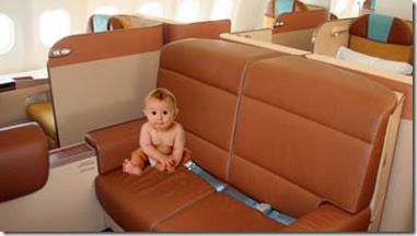 baby in first class