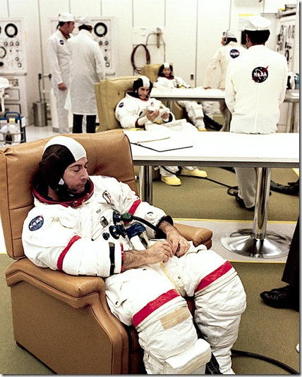 astronauts in chairs