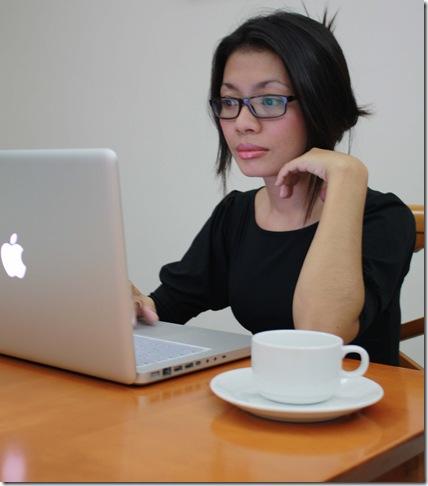 Angela at work