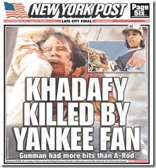 qaddafi NYP cover