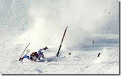 skier crash