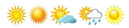 sunny weather icons