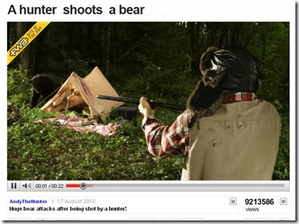hunter shoots a bear