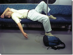 japanese sleeping commuter