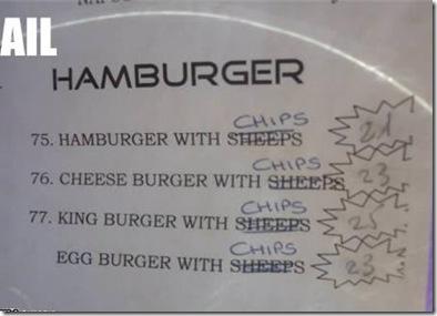 hamburger with sheeps