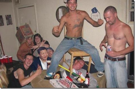 xi jinpeng partying