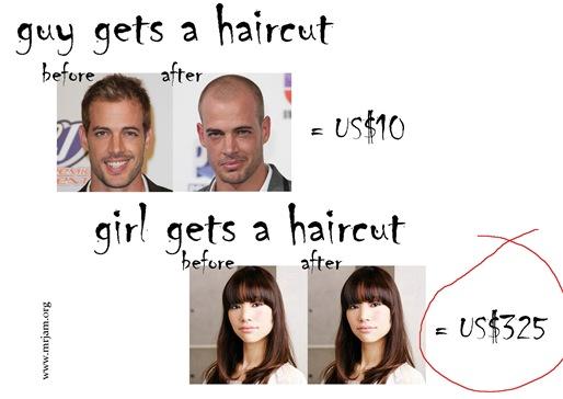 girl guy gets a haircut
