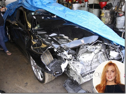 lohan car crash