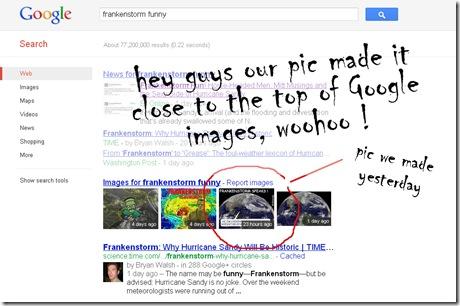 frankenstorm google