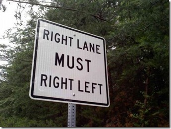 must right left