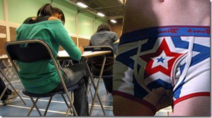 underpants exam