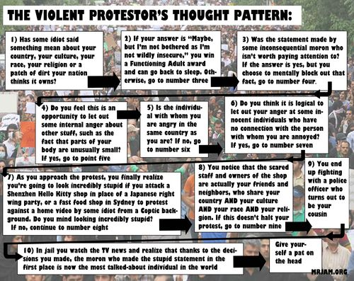 Protestors thought pattern2