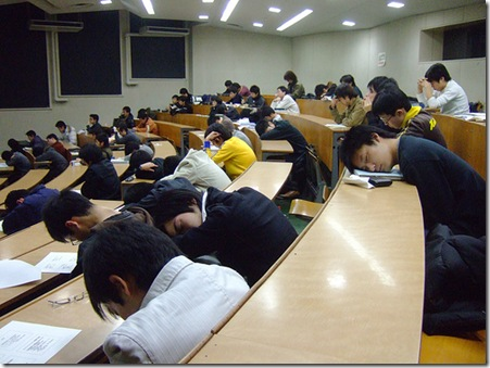 students asleep