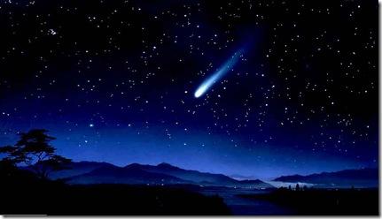 amazing scenery  with night sky