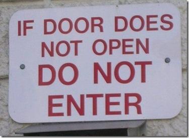 If door does not open