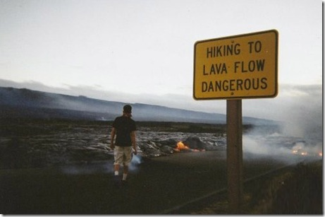 lava flow is dangerous