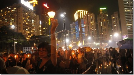 AP pic of Hong Kong last night