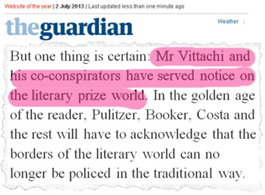 world readers award guardian