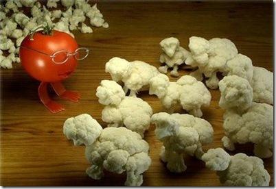 anthropomorphized vegetables