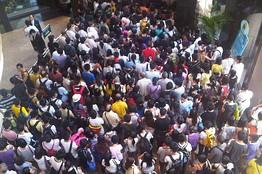 Book fair queue