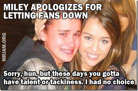 MILEY CYRUS APOLOGY