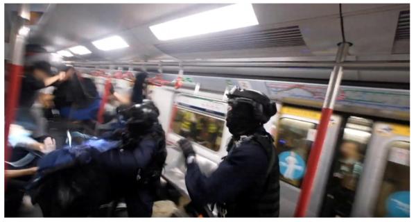 Arrests in train
